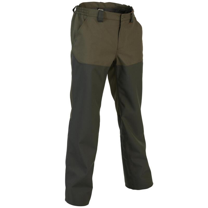 Pantalon chasse résistant et imperméable Supertrack vert 100