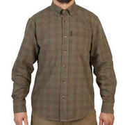 Men's Full Sleeve Shirt 500 Checked Green/Red