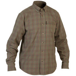 Men's Full Sleeve Shirt 100 Green and Red Check
