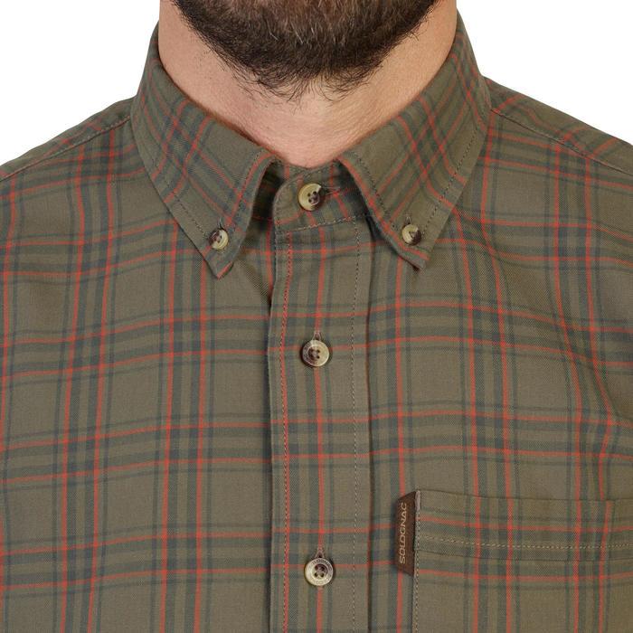 Camisa de Caça de Manga Comprida Xadrez Verde e Vermelha