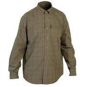 Men's Full Sleeve Shirt 100 Green/Beige Check