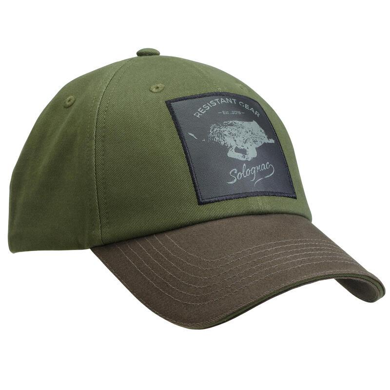 Jagerspet Geborduurd met Everzwijn 100 Groen - Bruin