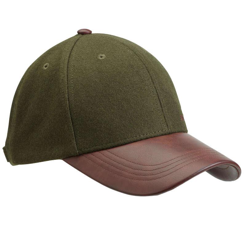 Caschetă/pălărie/bob vânătoare Vanatoare - Șapcă SG520 maro şi verde SOLOGNAC - Imbracaminte