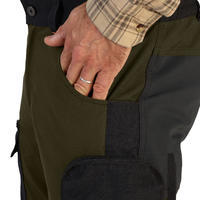 DURABLE & BREATHABLE HUNTING TROUSERS STEPPE 900 - GREEN