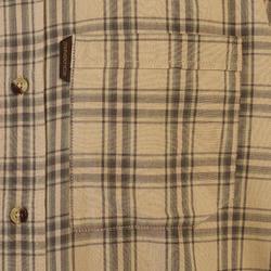 Overhemd voor de jacht 100 geruit beige