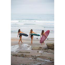 Shorty voor surfen Vanina zwart met aantrekkoordje