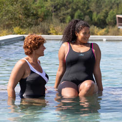 Maillot de bain 1 pièce Aquagym femme Mika Mika Noir rose