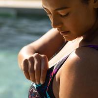 Maillot de bain une pièce femme gainant d'aquagym Mary Yuka noir