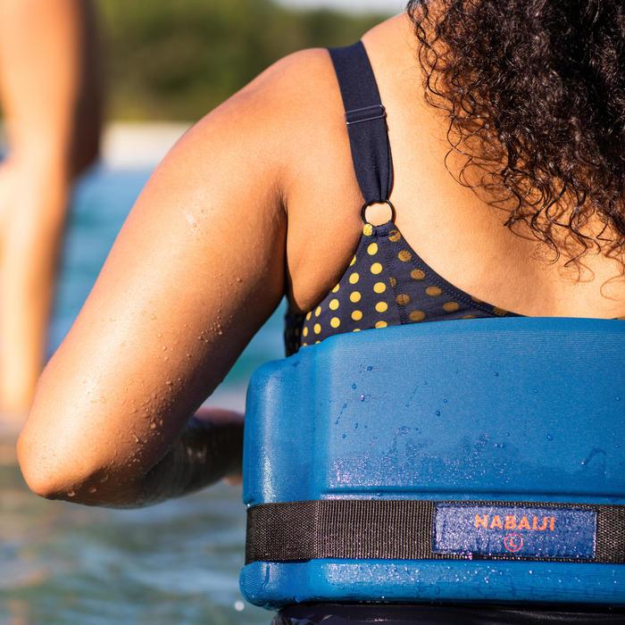 Maillot de bain une pièce femme gainant d'Aquagym Mia Dot bleu