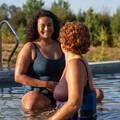 PLAVKY A VYBAVENÍ NA AQUAGYM, AQUABIKE Aqua aerobic, aqua fitness - DÁMSKÉ PLAVKY MARY ZELENÉ NABAIJI - Aqua aerobic, aqua fitness