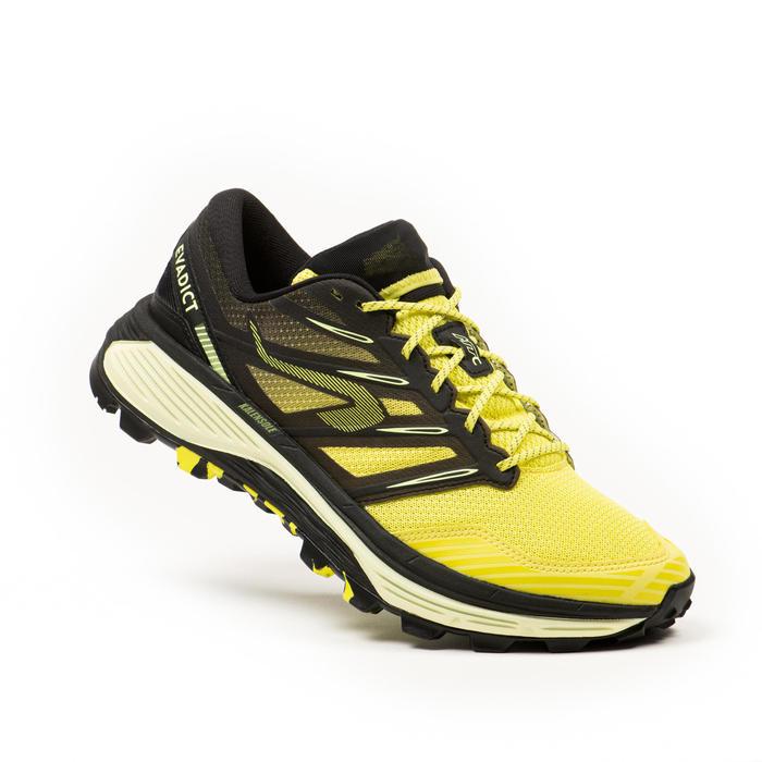 男款越野跑鞋MT Cushion - 黃色黑色