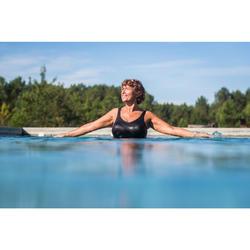 Maillot de bain une pièce femme gainant d'Aquagym Karli Lys noir