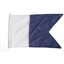 Bandeira Alpha para boia de sinalização à superfície de caça submarina