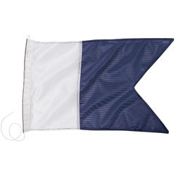 Duikvlag seinvlag A blauw en wit