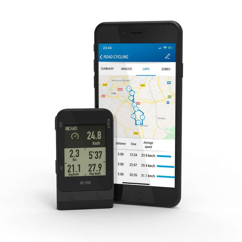 LICZNIKI ROWEROWE Akcesoria rowerowe - Licznik GPS BC900 VAN RYSEL - Akcesoria rowerowe