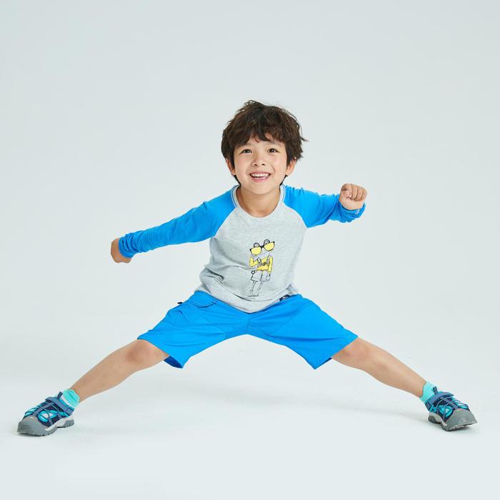 兒童款抗UV長袖健行T恤MH150-灰色