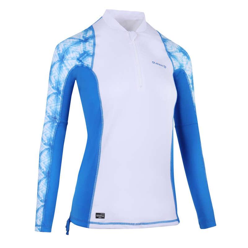 Солнцезащитная одежда для женщин Серфинг, Вейкбординг - ФУТБОЛКА CN UVTOP500L SHIBO OLAIAN - Одежда, обувь