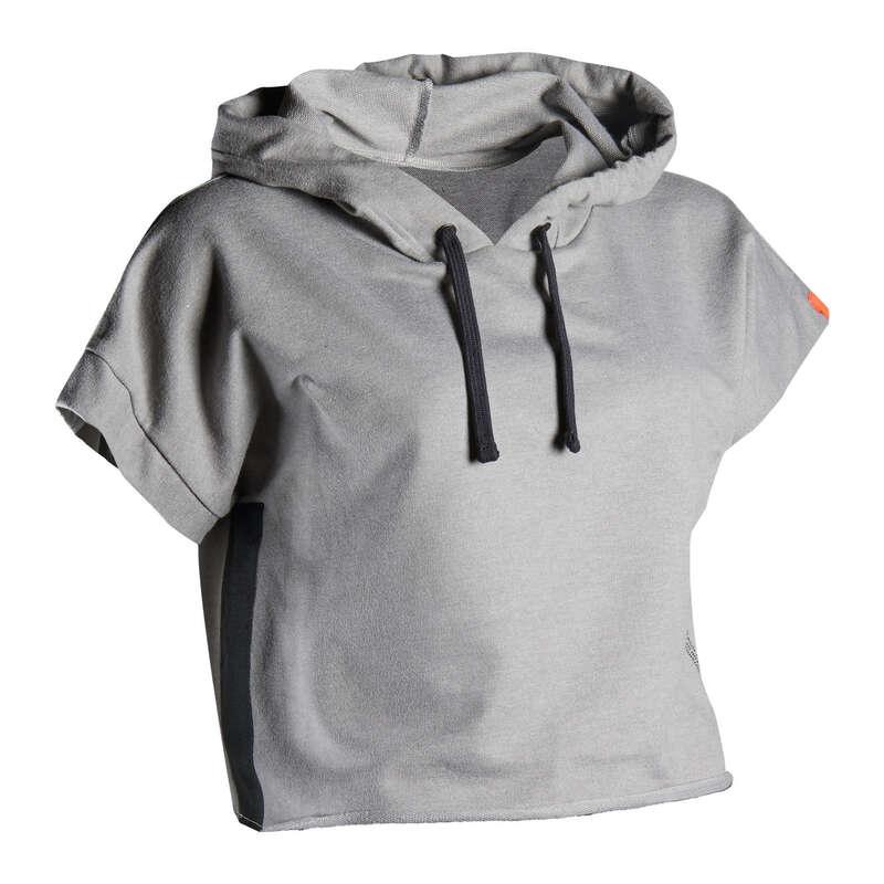BOX RUHÁZAT Fitnesz - Női kapucnis póló bokszhoz 100 OUTSHOCK - Fitnesz