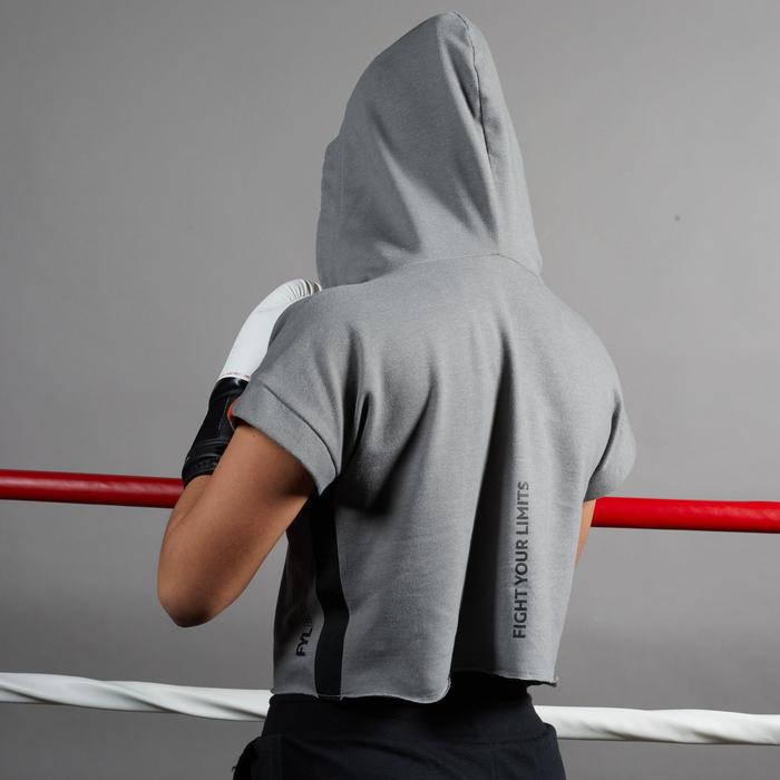 Hoodieshirt voor boksen dames 100 grijs