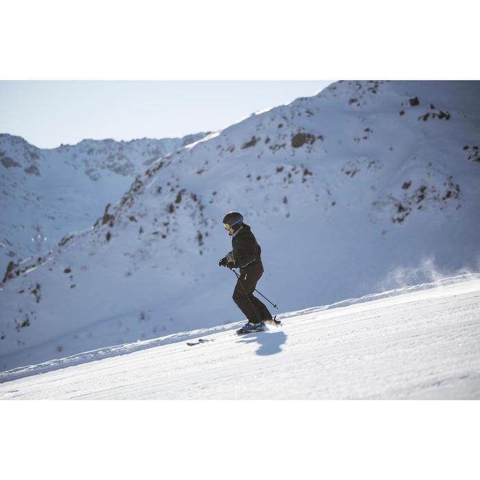 男款雪道滑雪外套500 - 黑色