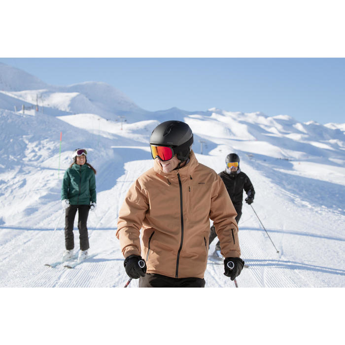 MEN'S DOWNHILL SKI JACKET 500 - CAMEL