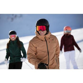 男款下坡滑雪外套500 - 駝色