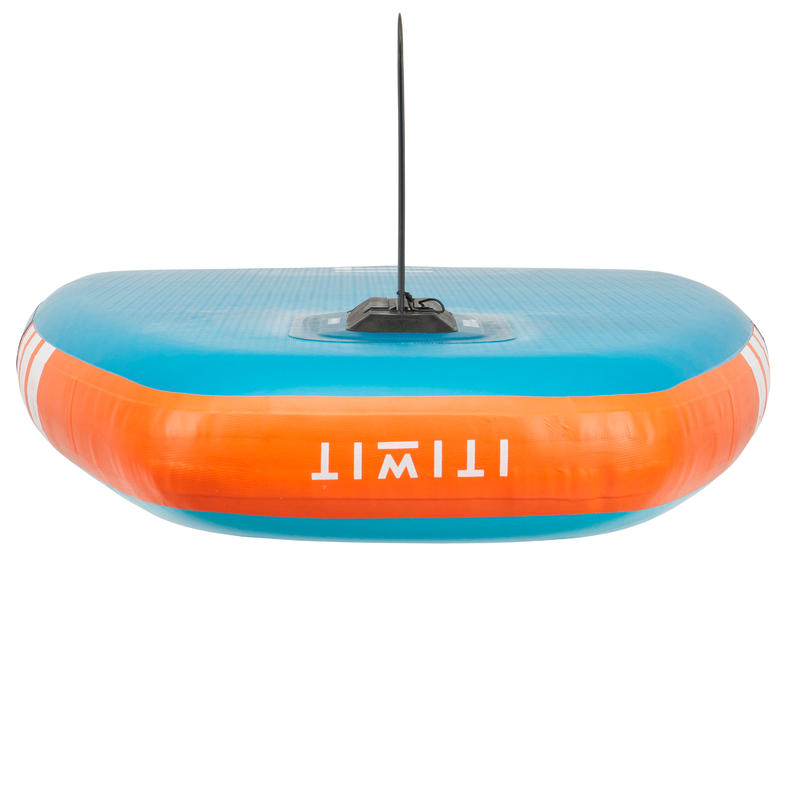 กระดานยืนพายทางไกลแบบสูบลมสำหรับมือใหม่ขนาด 9 ฟุต (สีฟ้าและส้ม)