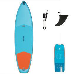 Opblaasbaar touring supboard voor beginners 9 feet blauw/oranje