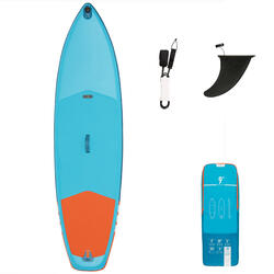 STAND UP PADDLE GONFLABLE DE RANDONNEE DEBUTANT 9 PIEDS BLEU ET ORANGE