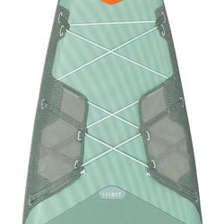 """充氣式旅行立式划槳板X500 / 13""""-31'-綠色"""