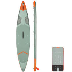 """TOURING INFLATABLE STAND-UP PADDLE BOARD X500 / 13""""-31' GREEN"""