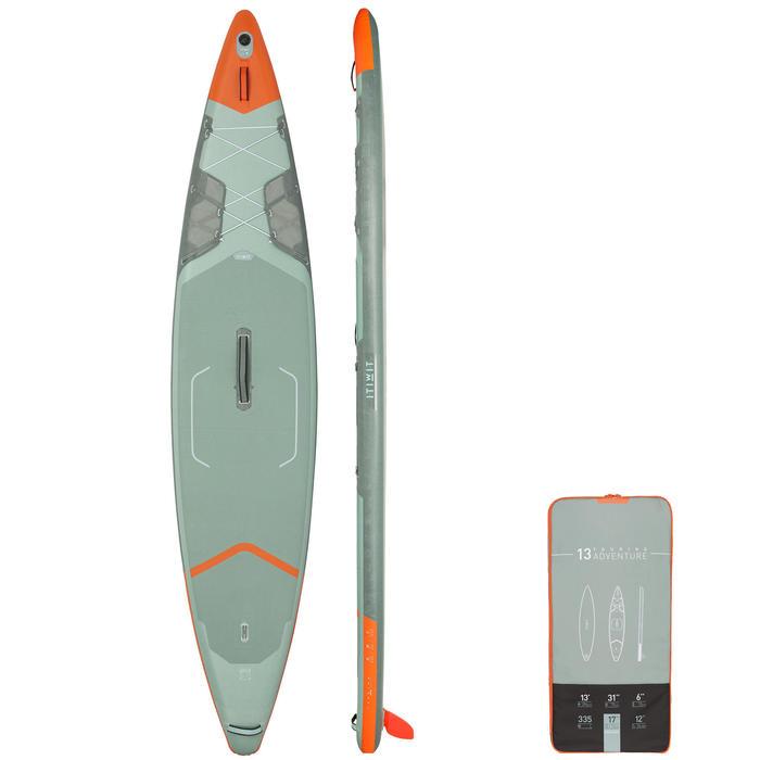 "Tabla de Stand Up Paddle Hinchable de Travesía X500 Itiwit 13""-31' Verde"