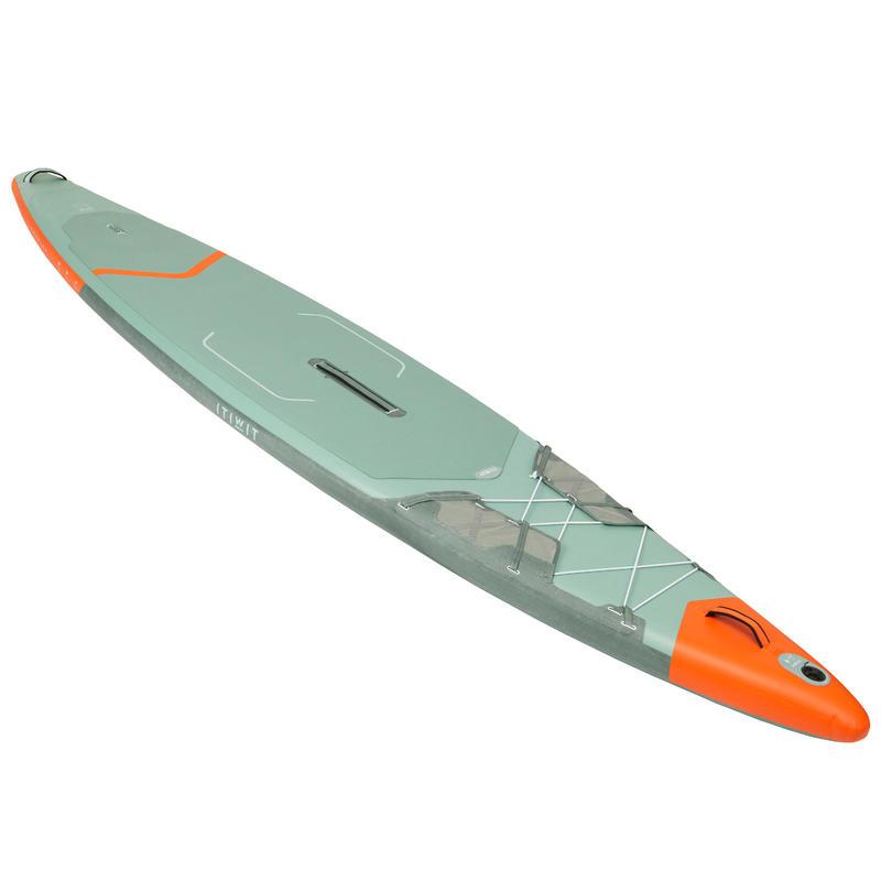 """กระดานยืนพายทางไกลแบบสูบลมขนาด 13""""-31' รุ่น X500 (สีเขียว)"""