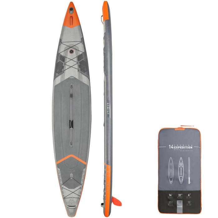 """DOUBLE CHAMBER INFLATABLE STAND-UP PADDLE BOARD EXPEDITION X900 14'-31""""-6"""""""