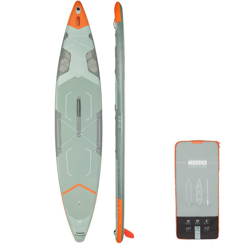 NAFUKOVACÍ PADDLEBOARD NA KLIDNOU VODU Paddleboarding - NAFUKOVACÍ SUP X500 TANDEM ITIWIT - Paddleboardy