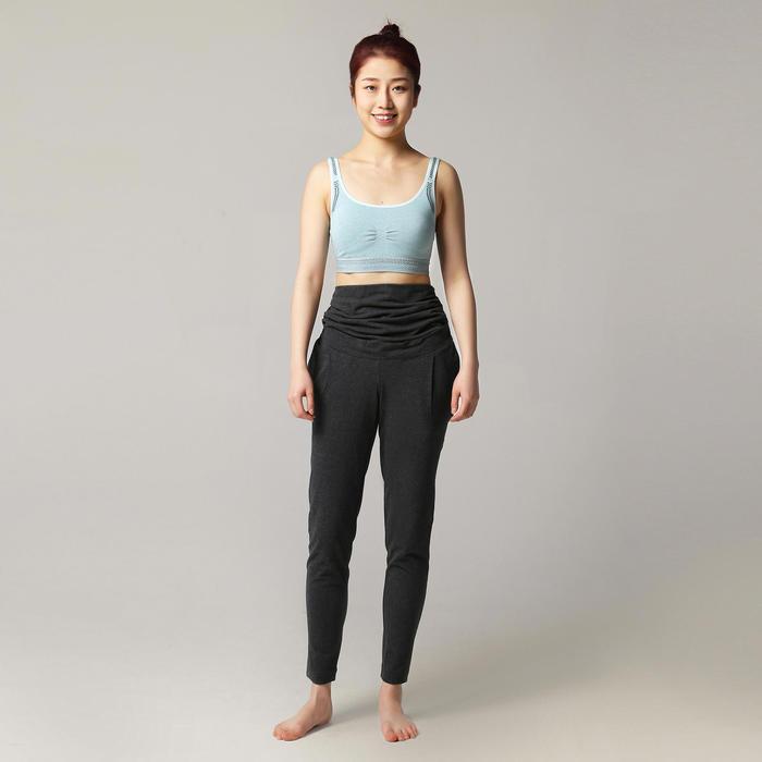 女款孕婦舒緩瑜珈長褲 - 灰色