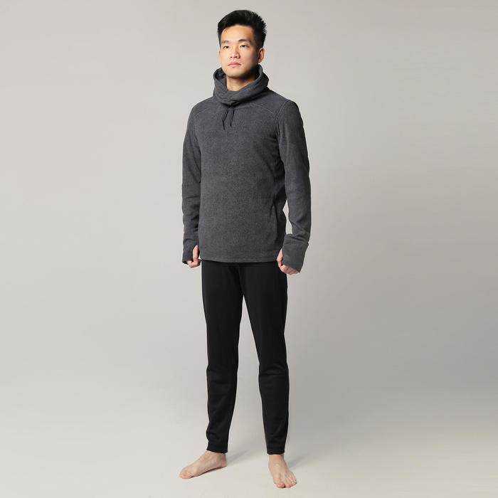 男款放鬆瑜珈運動衫 - 灰色