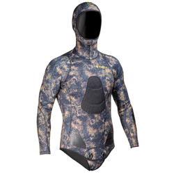 Vest 3 mm splitneopreen voor harpoenvissen SPF500 camouflage
