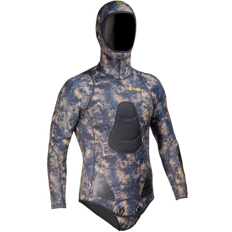 SPEARFISHING SUITS 16/24° Imbracaminte - Jachetă vânătoare SPF 500 Kaki SUBEA - Imbracaminte