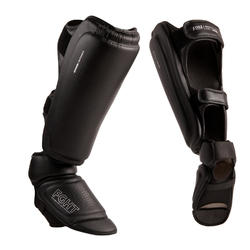 Scheen-voetbeschermer voor volwassenen 900 kick/thaiboksen zwart