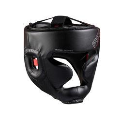 成人款全罩式拳擊頭盔500-黑色