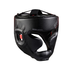 Adult Boxing Full Face Headguard 500 - Black