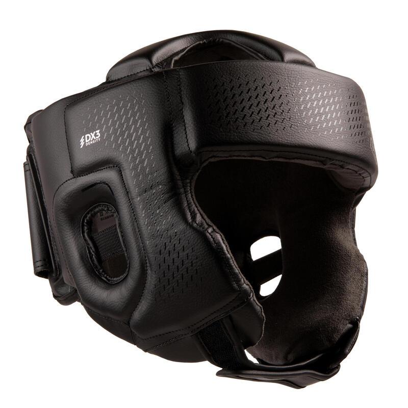 Adult Boxing Open Face Headguard 900 - Black