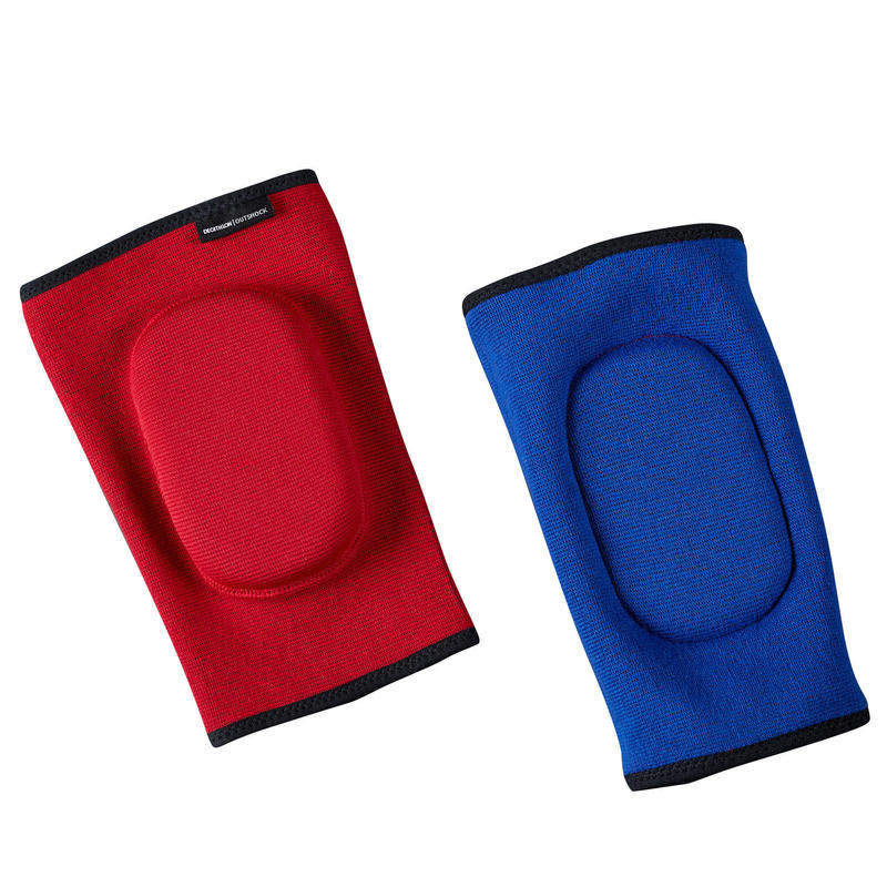 Muay Thai Elbow Pads for Training or Competition - Reversible Red/Blue.