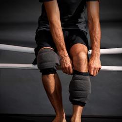 Kniebeschermers voor vechtsport 900 grijs kick-/thaiboksen training