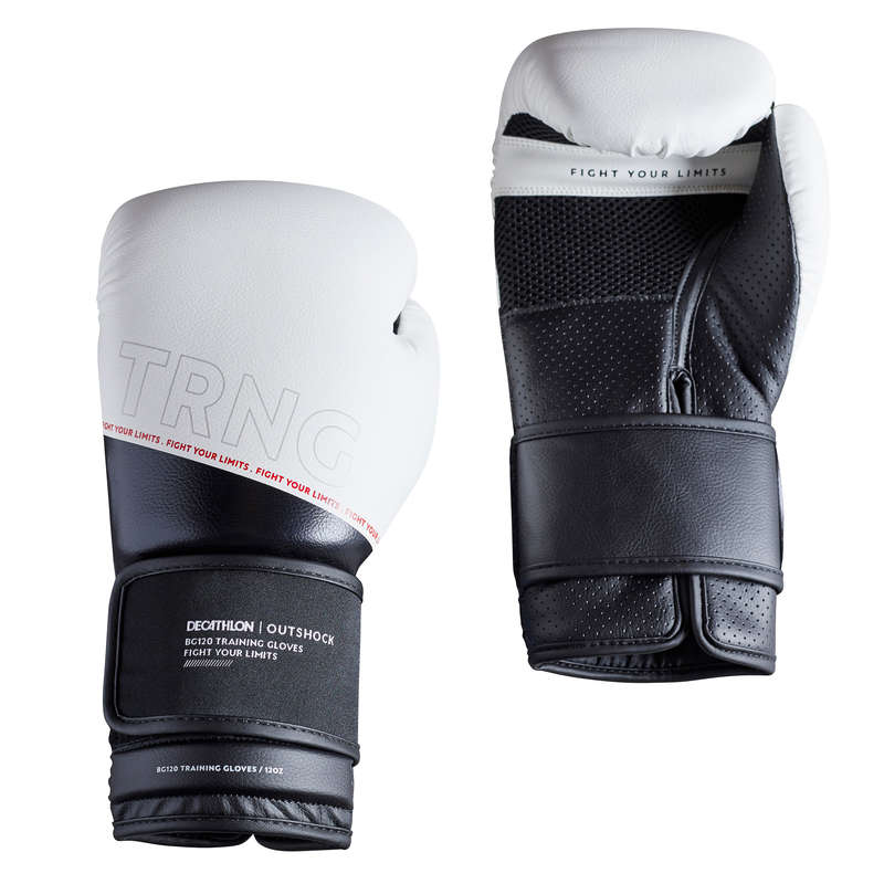 BOXING GLOVES Boxing - Boxing Gloves 120 - White OUTSHOCK - Boxing
