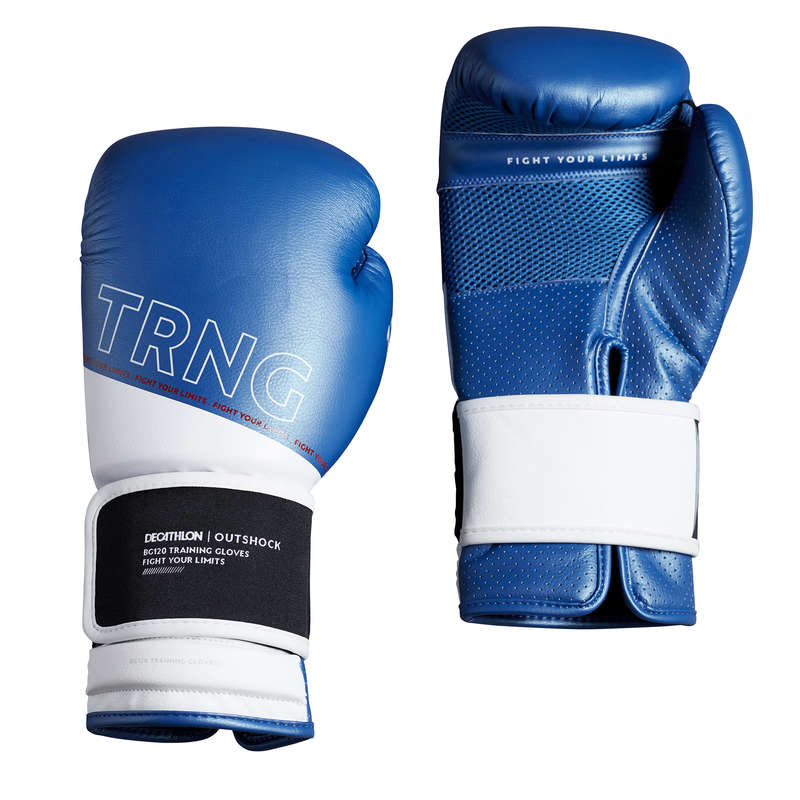 BOXING GLOVES Boxing - Boxing Gloves 120 - Blue OUTSHOCK - Boxing