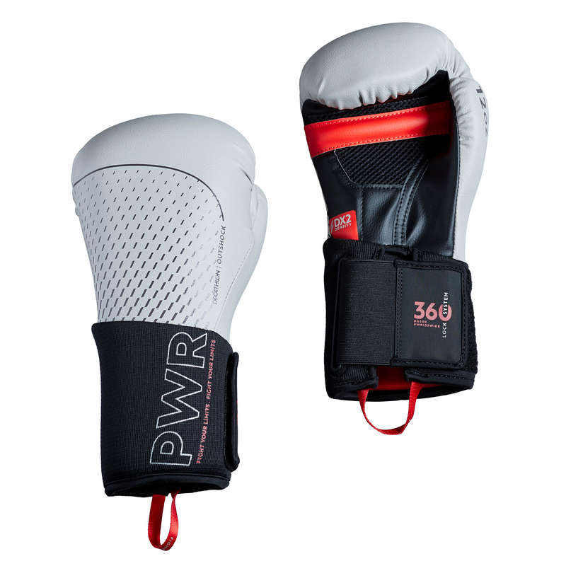 BOXING GLOVES Boxing - 500 Ergo Boxing Gloves - Grey OUTSHOCK - Boxing