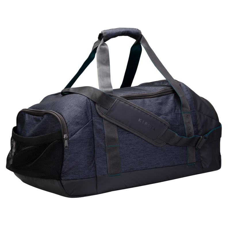 Bolsa de Deporte Kipsta Academique 55 litros negro azul turquesa