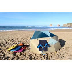 Parasol Abri solaire Iwiko 180 beige vert menthe UPF50+ 3 places